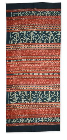 Warp Ikat Sarung from Flores, Indonesia. Cotton, Natural Dyes - Threads of Life