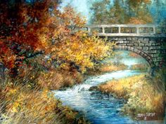 Over the River by Jamie Carter ~ bridge ~ autumn