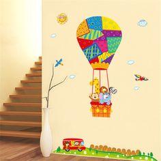 Air Ballon Animal Wall Sticker