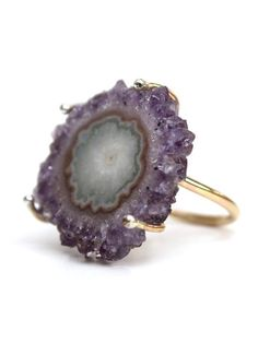 Amethyst stalactite ring by Wings Hawaii...  Love this hand made one of a kind piece of jewelry!