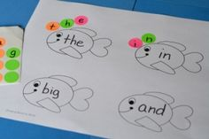 A free printable to work on sight words to compliment the book Not Norman.