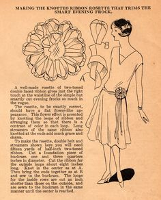 Home Sewing Tips from the 1920s: A Ribbon Rosette for Your Evening Frock