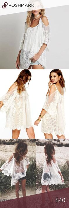Coming 2017! White Lace Swimsuit Coverup Coming 2017 Swim Coverups