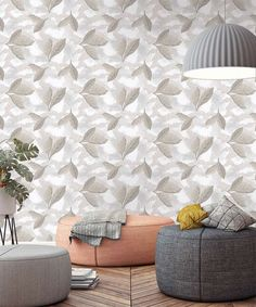 This beautiful leaf pattern will add a distinctive touch to any room in your home. Our harmonic plant pattern fits in scandinavian style or eclectic design. Leaves Wallpaper, Eclectic Design, Scandinavian Style, Pattern Wallpaper, Custom Design, Plant, Clouds, Touch, Patterns