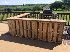 Outdoor Pallet Bar Bars Lounges & Garden Sets