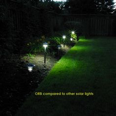 The ORB Solar Lights for Pathway Garden by Free-Light. Constant Brightness Solar Lights with Battery Protection.