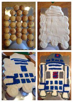 r2d2 cupcake cake - Google Search