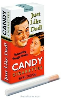 70s food - Candy Cigarettes. My favorite was the 'puff' you could do in the beginning to blow out some candy dust like real smoke. Gosh if these things were around today...just imagine the lawsuits.