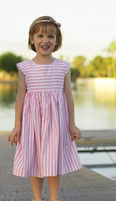 Be your own designer and create an unlimited variety of baby, toddler and little girls' dresses from this customizable pattern. Sizes newborn - 8 years.