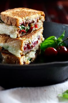 Cherry, Basil, and Provolone Grilled Cheese | Community Post: 14 Next-Level Grilled Cheese Sandwiches That Are Better Than A Boyfriend