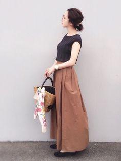 秋ニットとブラウンスカート、 したかったスタイリングなので嬉しい(^ ^) お気に入りです。 トップ Normcore, Spring Summer, Skirts, How To Wear, Outfits, Vintage, Style, Fashion, Moda