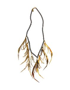 K/LLER Collection BRASS FEATHER BIB