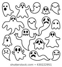 Easy Halloween Drawings, Halloween Doodle, Halloween Cartoons, Halloween Design, Easy Drawings, Ghost Drawing Easy, Ghost Drawings, Easy Graffiti Drawings, Easy Halloween Decorations
