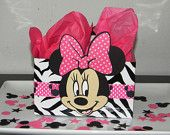 Minnie Mouse Centerpiece/Balloon Base - Black and White Polka Dots