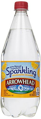 Arrowhead Brand Sparkling Mountain Spring Water, Mandarin Orange 33.8-Ounce Plastic Bottle *** undefined
