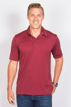 Grab your clubs and hit the course in our Men's Golf Polos featuring dry wicking and antimicrobial properties - ideal for all your active needs.
