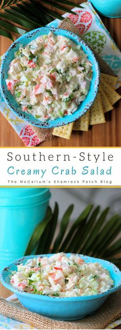 Creamy Crab Salad is one of the most delicious yet easiest semi-homemade salads you'll ever have the pleasure of making. For years this creamy crab salad has been my secret go-to recipe for impromptu gatherings with friends and family members at reunions, work potlucks, and even church gatherings.