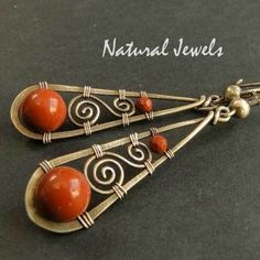 Earrings |  Natural Jewels Designs on DaWanda.  Sterling and Jasper