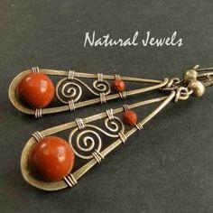 Earrings |  Natural Jewels Designs on DaWanda.  Sterling and Jasper