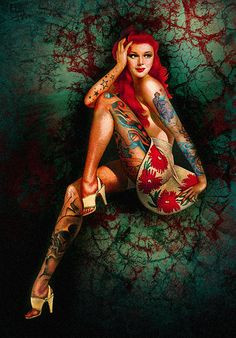 Tried finding artist but couldn't.   Pretty no name Pin up. -Via Lisa.