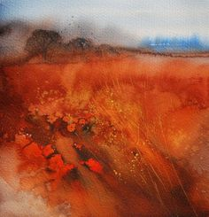 Landscape Paintings and photographs : Ann Blockley Experiments with Winsor & Newton limited edition Desert Coll