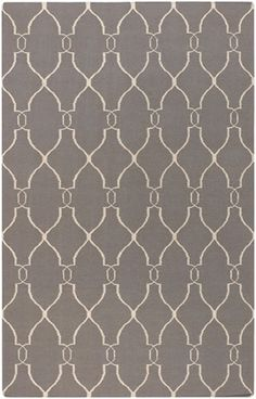Fallon FAL-1003 Gray Flatweave Rug from the Jill Rosenwald Rugs collection at Modern Area Rugs