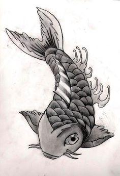 how to draw a koi step 5  Koi fish Everything Koi  Pinterest