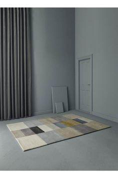 Various Impilati mustard Modern Rugs, Danish Modern, Nordic Living, Danish Design, Nordic Design, Handmade Rugs, Timeless Design, Surface Design, House Design