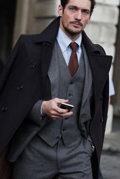 Men's Business Outfits, Business Attire For Men, Suit Fashion, Fashion Models, Mens Fashion, Fashion Outfits, Famous Male Models, Androgynous Models, Three Piece Suit