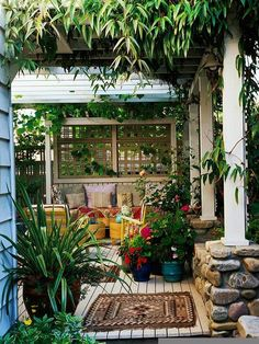 A porch that's festive and inviting