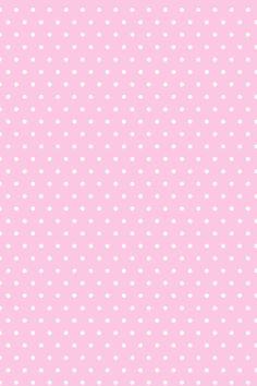 Pink with polka dots wallpaper
