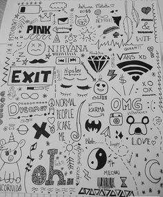 Love this ❤✨ simple doodles, cute doodles, hipster doodles, random doodles, Doodle Tattoo, Doodle Drawings, Easy Drawings, Doodle Art, Drawing Sketches, Small Drawings, Simple Tumblr Drawings, Random Drawings, Notebook Drawing