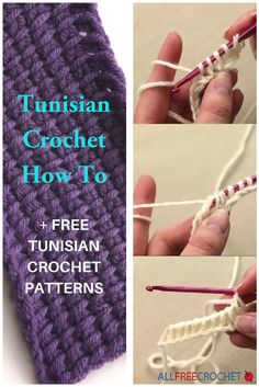 Learn how to crochet the Tunisian stitch and get free crochet patterns using this amazing stitch.