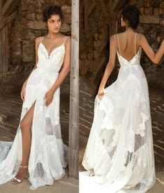 Such a beautiful wedding dress! We just love this open back style 💕 Tag your girls to see if they like this … .… Such a beautiful wedding dress! We just love this open back style 💕 Tag your girls to see if they like this … . Wedding Dress Gallery, Lace Beach Wedding Dress, Wedding Beach, Beach Weddings, Spring Wedding, Destination Wedding, Boho Dress, Lace Dress, Bridal Dresses