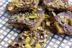 Chocolate Toffee Pistachios | Pistachio Chocolate Toffee (just adapted a bit from David Lebovitz )