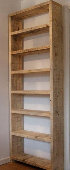 Basic wood shelves from 2x10 boards. Use wood screws, countersink & fill…