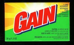 Gain Laundry Detergent and Softener.