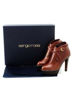 Sergio Rossi Genuine Leather Crisscross Booties - Booties - Shoes at Viomart.com