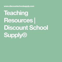 Teaching Resources | Discount School Supply®