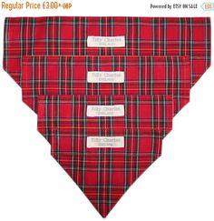 WINTER SALE Stylish RED Royal Stewart tartan by TillyCharlesShop