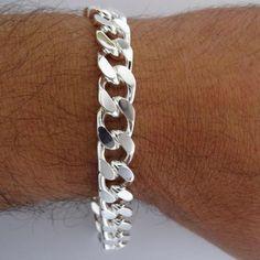 82g Men/'s Gent/'s Sterling Silver Highly Polished Design Torque Bangle