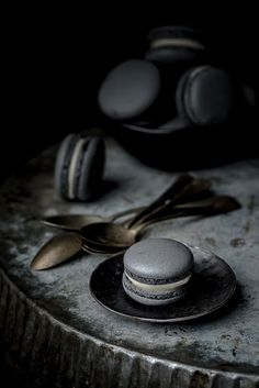 Bewitched Black Truffle Macaroons