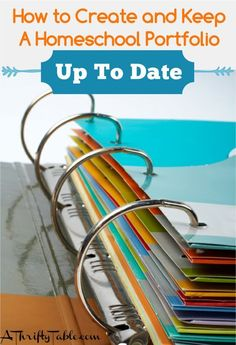 How to Create and Keep A Homeschool Portfolio Up To Date - A Thrifty Table