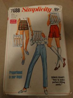 Vintage 1968 Simplicity Pattern 7688 Size Miss by TheIDconnection