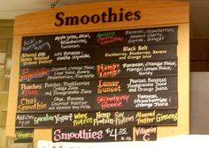 Smoothie Juice Bar Menu By Chris Palm Beach Gardens Fl