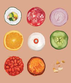 Food illustration archive