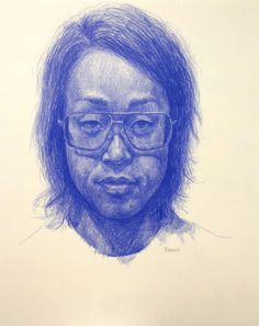 Self-portrait  Colored pencil on paper  35.5cm x 28cm  20090222  Copyright © 2009 Takashi Iwasaki