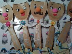 Wooden Spoon Crafts, Wooden Spoons, Christmas Crafts For Kids, Christmas Ornaments, Diy Y Manualidades, Pet Day, Diy Home Crafts, Spring Crafts, Projects For Kids