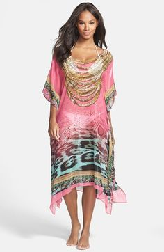 SeaLux+'Treasure+of+the+Sea'+Silk+Cover-Up+available+at+#Nordstrom