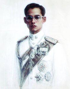 King Bhumibol Adulyadej King Bhumipol, King Rama 9, King Art, King Of Kings, King Queen, King Thailand, King Painting, Queen Sirikit, Bhumibol Adulyadej